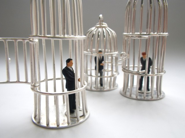 bird cages, silver, 3
